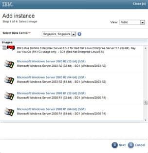IBM SCE - Add Instance